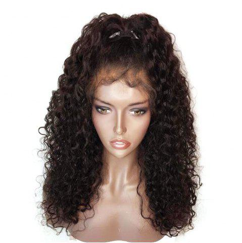 Online Fluffy Curly Long Lace Frontal Synthetic Wig - BLACK AND BROWN  Mobile