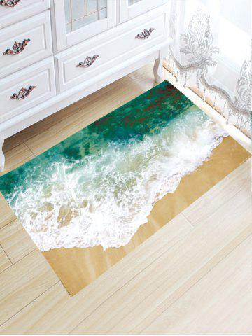 Cheap Sea Tide Water Absorptive Flannel Antiskid Rug - 32*20 INCH GREEN Mobile