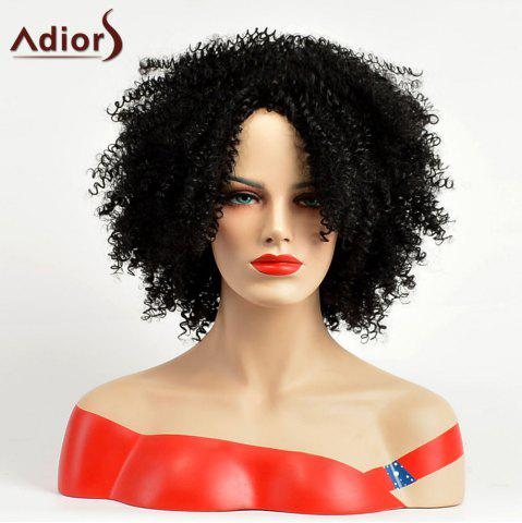 Adiors Afro Curly Fluffy Medium Synthetic Wig - Black