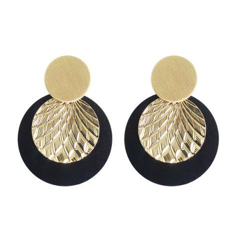 Sale Disc Circle Drop Earrings