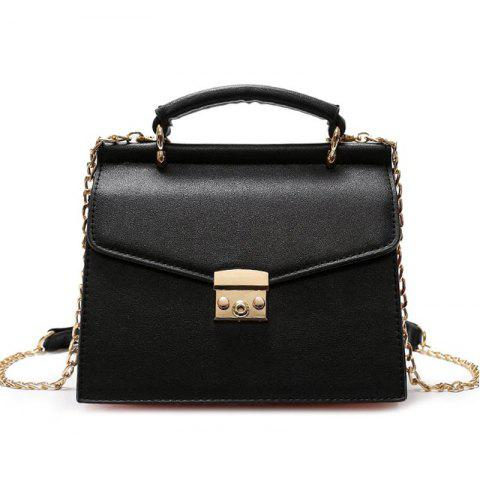 Trendy Metal Detial Color Block Crossbody Bag