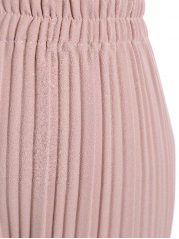 Latest Plus Size Pleated Ankle Pants - 3XL PINK Mobile