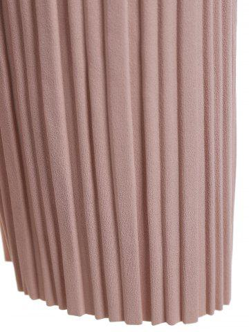 Affordable Plus Size Pleated Ankle Pants - 3XL PINK Mobile