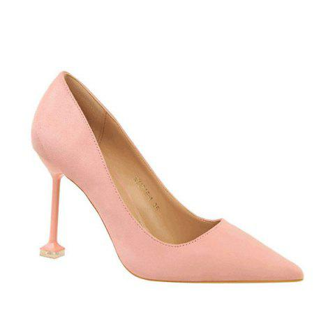 Buy Strange Style Pointed Toe Pumps PINK 38