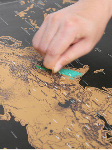 Chic Scratch World Map Travel Edition Deluxe - 82.5*59.4CM BRONZE-COLORED Mobile