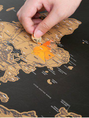 Outfit Scratch World Map Travel Edition Deluxe - 82.5*59.4CM BRONZE-COLORED Mobile