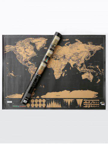 Trendy Scratch World Map Travel Edition Deluxe - 82.5*59.4CM BRONZE-COLORED Mobile