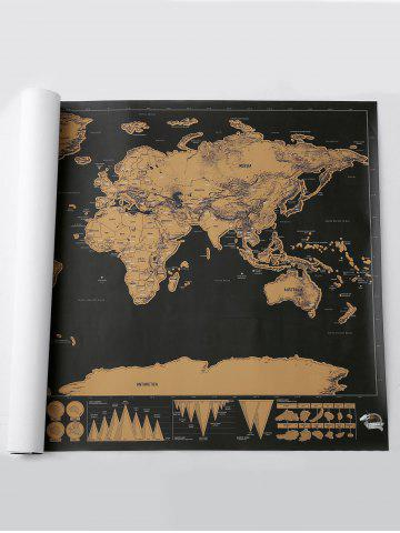 Fancy Scratch World Map Travel Edition Deluxe - 82.5*59.4CM BRONZE-COLORED Mobile