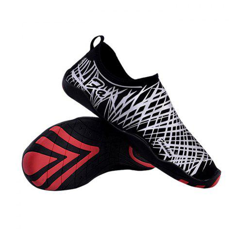 Chic Outdoor Striped Breathable Skin Shoes - 35 SILVER Mobile