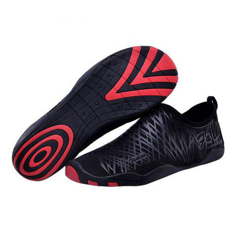 Hot Outdoor Striped Breathable Skin Shoes - 43 BLACK Mobile