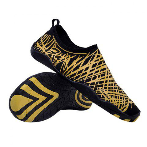 Outfit Outdoor Striped Breathable Skin Shoes - 43 GOLDEN Mobile