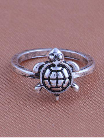 Online Alloy Faux Turquoise Elephant Tortoise Ring Set - SILVER  Mobile