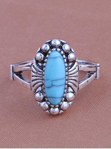 Sale Alloy Faux Turquoise Elephant Tortoise Ring Set - SILVER  Mobile