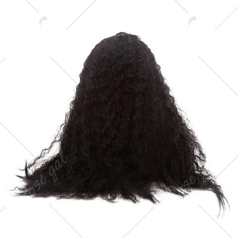 Shop Towheaded Long Curly Synthetic Lace Front Wig - NATURAL BLACK 04A#  Mobile