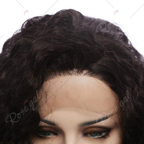 Hot Towheaded Long Curly Synthetic Lace Front Wig - NATURAL BLACK 04A#  Mobile