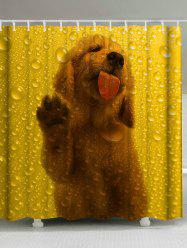 Waterdrop Dog Animal Printed Shower Curtain