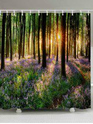 Waterproof Fabric Sunshine Forest Shower Curtain - COLORMIX