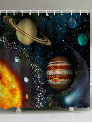 Mildewproof Galaxy Planet Shower Curtain
