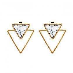 Vintage Rammel Triangle Ear Jackets - GOLDEN