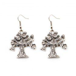Rhinestone Life Tree Earrings