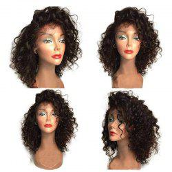 Fluffy Medium Curly Side Bang Synthetic Lace Front Wig