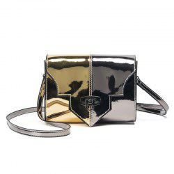 Metallic Color Block Crossbody Bag