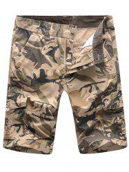 Camouflage Multi Pockets Cargo Shorts