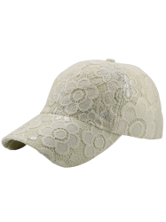 Striking Lace Flower Breathable Baseball Cap