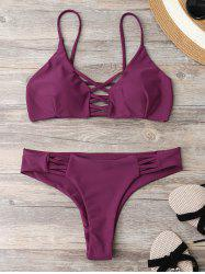 Lace Up Criss Back Strappy Bikini