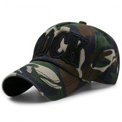 Camouflage Letters Embroidery Baseball Cap