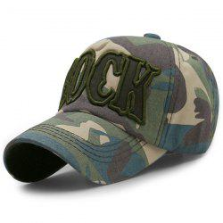 Camouflage Letters Embroidery Baseball Cap - LIGHT GREEN
