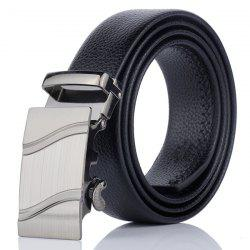 Automatic Metal Buckle Wave Pinstripe Belt -
