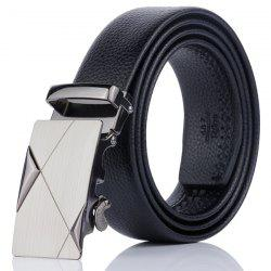 Alloy Automatic Buckle Triangle Line Embellished Belt -
