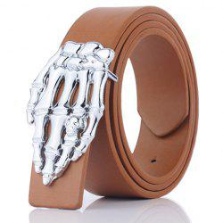 Skeleton Hand Shape Plate Buckle Belt