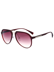Mirrored Metal Crossbar Sunglasses