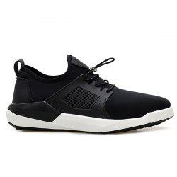 Faux Leather Insert String Athletic Shoes