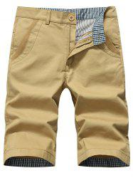 Zipper Fly Chino Shorts