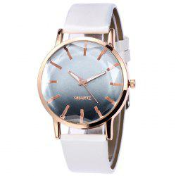 Faux Leather Band Ombre Quartz Watch