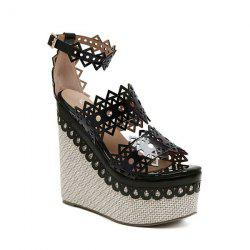 Hollow Out Weave Sandals