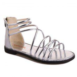 Metallic Colour Zipper Sandals