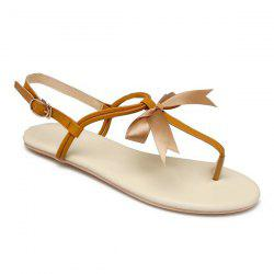 Bow Faux Leather Sandals