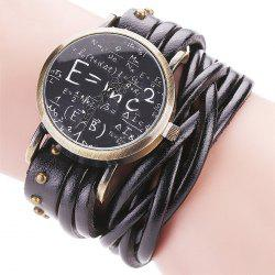 Physical Equation Face Wrap Bracelet Watch