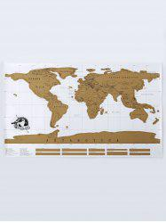 Scratch World Map Travel Edition Original - BRONZE-COLORED