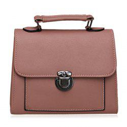 Push Lock Cross Body Handbag - PINK