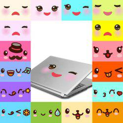 A Set of Cartoon Smile Emoticon Wall Art Stickers