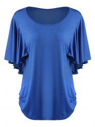 Scoop Neck Butterfly Sleeve Plus Size T-Shirt