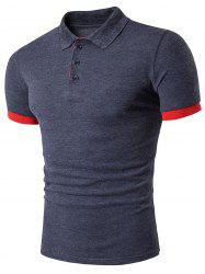 Cotton Color Block Panel Polo T-Shirt