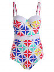 Printed Plus Size Padded One Piece Swimsuit