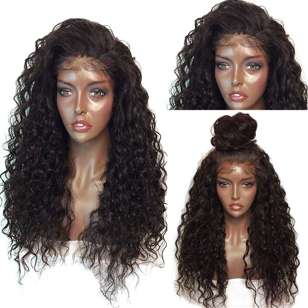Fluffy Curly Long Lace Frontal Synthetic WigHAIR<br><br>Color: BLACK AND BROWN; Type: Full Wigs; Cap Construction: Lace Front; Style: Curly; Material: Synthetic Hair; Bang Type: None; Length: Long; Lace Wigs Type: Lace Front Wigs; Length Size(Inch): 26; Weight: 0.3000kg; Package Contents: 1 x Wig;