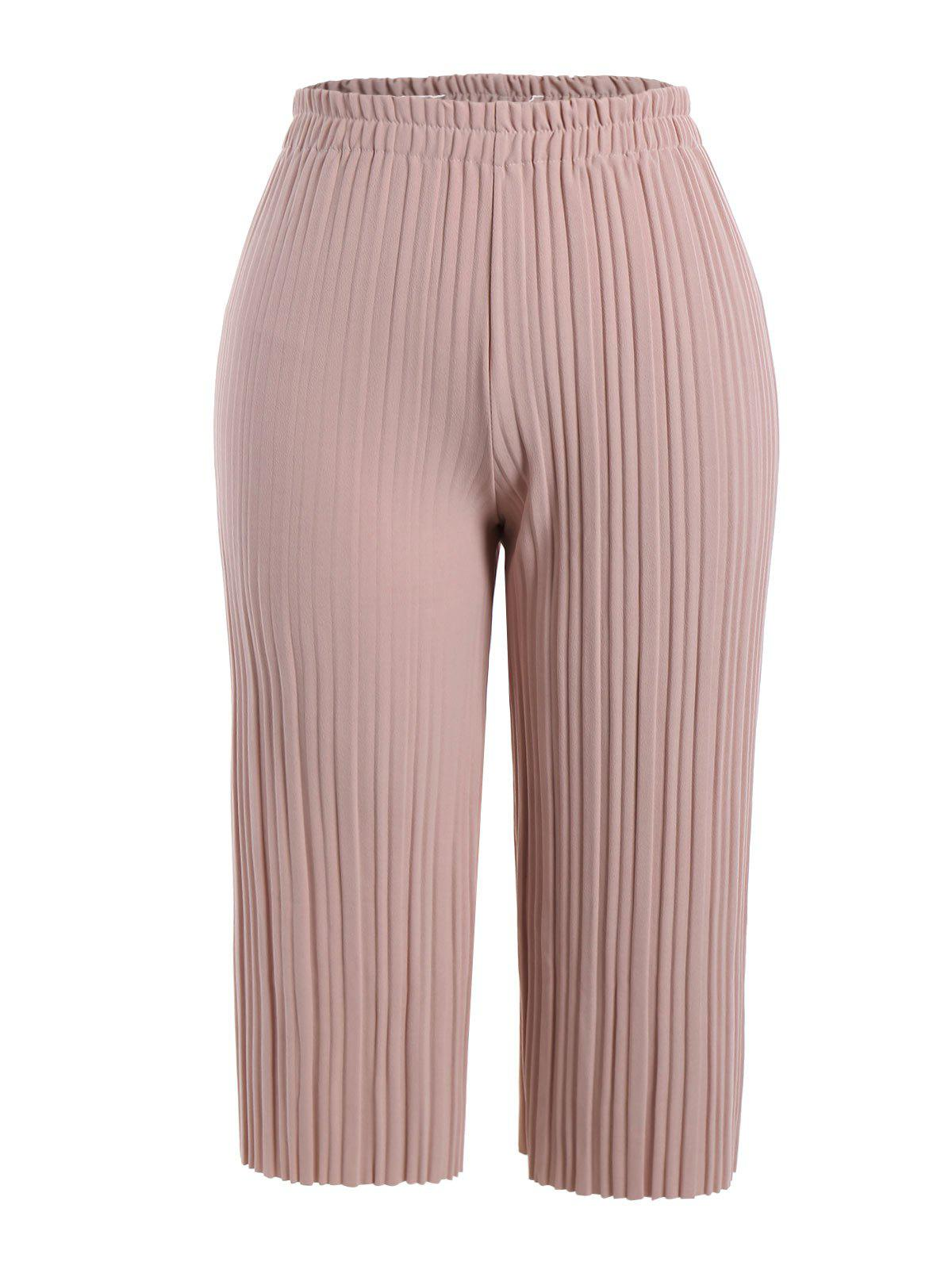 Chic Plus Size Pleated Ankle Pants